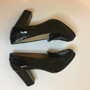 Michael Kors Patent Leather heeled Loafers